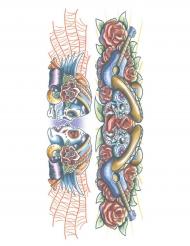 Tatuaje efímero colorido adulto
