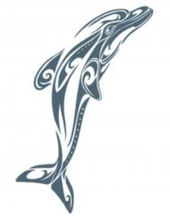 Tatuaje efímero delfín cuerpo adulto