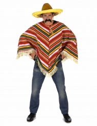 Poncho mexicano adulto