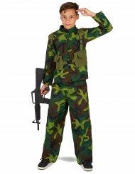 Disfraz de militar para niño verde