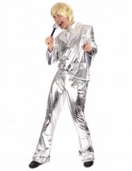 Disfraz Disco plateado brillante hombre