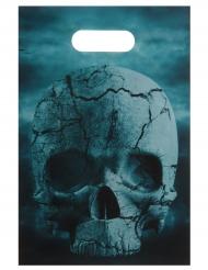 10 bolsas de fiesta en plástico noche de horror 16x23 cm