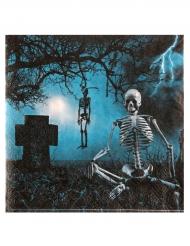 10 Servilletas de papel noche de terror 33x33 cm