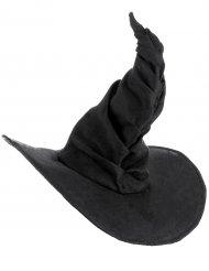 Sombrero bruja terciopelo negro adulto