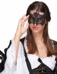 Máscara encaje negro mujer