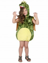Disfraz de dinosaurio verde niño