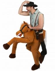 Disfraz hombre con caballo adulto