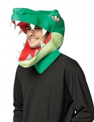 Máscara cabeza de cocodrilo adulto