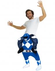 Disfraz hombre a caballito de un Power Rangers™ azul para adulto de Morphsuits™