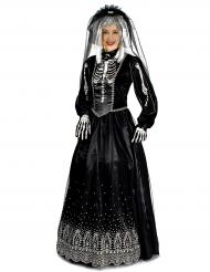 Disfraz novia negra mujer Halloween