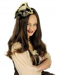 Mini sombrero pirata lujo mujer