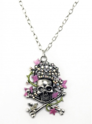 Collar calavera girly adulto