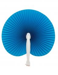 Abanico plegable azul