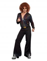Camisa lujo Disco lentejuelas multicolores hombre