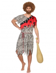 Disfraz prehistórico rojo hombre