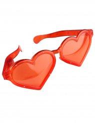 Gafas gigantes corazón rojo luminosas adulto