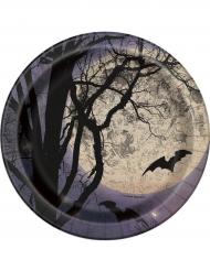 8 platos pequeños luna de Halloween 18cm