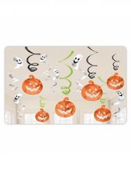 12 Decoraciones para colgar calabazas y fantasmas Halloween