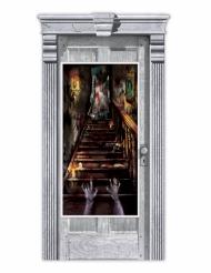 Decoración de puerta casa encantada zombie 165 x 85 cm