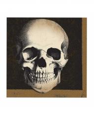 20 servilletas de papel 33x33 calavera Halloween