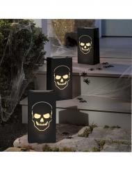 6 Linternas de papel calavera Halloween