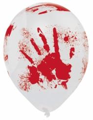 6 Globos látex Halloween ensangrentados