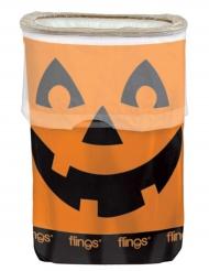 Basura de plástico calabaza Halloween 49.2 l