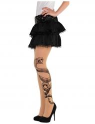 Media tatuaje víbora mujer