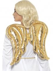 Alas de tela oro 50 x 40 cm adulto