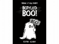 10 pegatinas decorativas para botellas fantasma Halloween