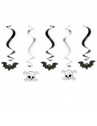 5 decoraciones colgantes espirales Halloween 60 cm