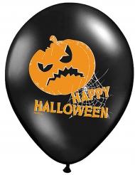 6 Globos látex calabaza Happy Halloween