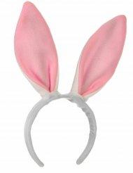 Diadema orejas rosas de conejo niño