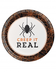 8 Platos de cartón Halloween Creep it real 18 cm