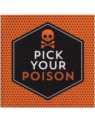16 Servileltas de paple Halloween pick your poison 33 x 33 cm