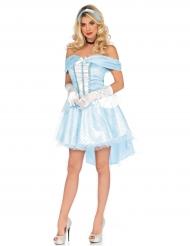Disfraz de princesa de cristal azul mujer