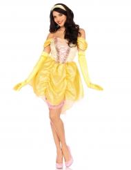 Disfraz princesa mágica amarillo mujer
