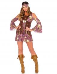 Disfraz hippie margarita mujer