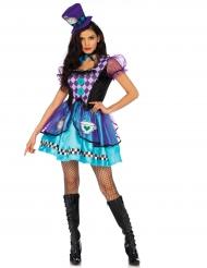 Disfraz princesa demente morada mujer