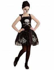 Disfraz bailarina esqueleto negro niña Halloween