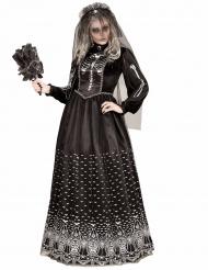 Disfraz esqueleto gótico negro mujer Halloween