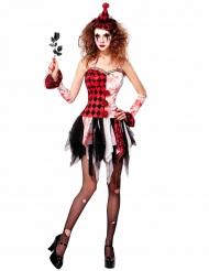 Disfraz arlequín maléfico mujer Halloween