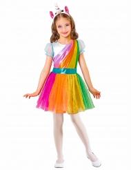Disfraz unicornio arcoíris niña
