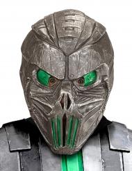 Máscara cyborg galáctico verde adulto