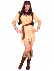 Disfraz princesa de tribu mujer