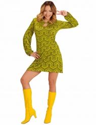 Disfraz verde años 70 groovy mujer
