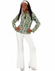 Camisa groovy waves años 70 mujer