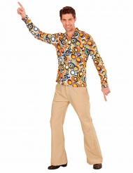 Camisa groovy burbujas años 70 hombre