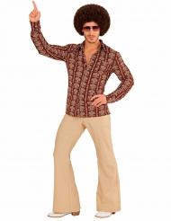 Camisa groovy old school años 70 hombre