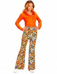 Pantalón groovy burbujas años 70 mujer